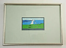 Original Farblinolschnitt Klaus Fußmann, handsigniert gerahmt 36x26 cm.  (ST10)