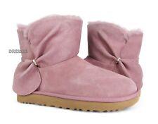 UGG Classic Mini Twist Pink Dawn Suede Fur Boots Womens Size 8 *NIB*