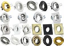 LED Einbaustrahler Einbauspot Rund Eckig inklusive GU10 230V Sockel Fassung