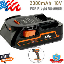 For Ridgid R840087 2.0Ah 18V Lithium Ion Battery Compact Hyper R840083 R840085