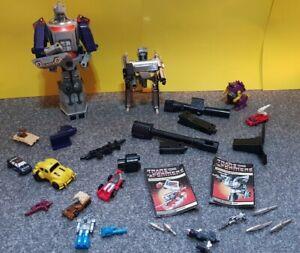 Job lot collection Transformers G1 80s action figure toys robots accessories etc