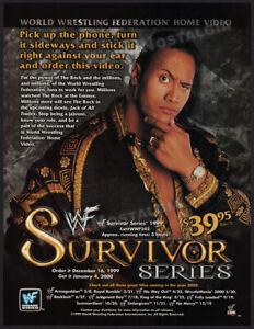 WWF: SURVIVOR SERIES__Original 1999 Trade AD / ADVERT__The ROCK__Dwayne Johnson