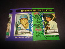Bobby Shantz A's & Hank Sauer Cubs 1975 Topps #190 Dual Signed Authentic Auto M7