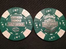 "Harley Davidson Poker Chip (Green & White) ""Southern Thunder H-D"" Southaven MS"