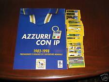 ALBUM FIGURINE AZZURRI MONDIALI 1982/1998 COMPLETO