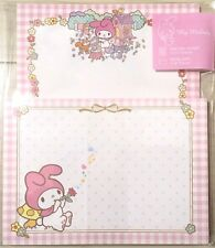 New Sanrio My Melody Pink polka dots and plaid Letter writing set KAWAII JAPAN
