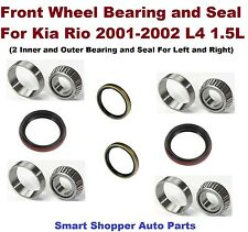 Front Inner Outer Wheel Bearing, Race, and Seal for 2001-2002 Kia Rio-pair