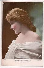 Vintage Postcard Maud Jeffries American actress Color