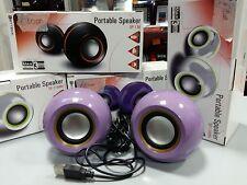 CASSA PORTATILE Attacco USB per PC MP3 SMARTPHONE SPEAKER ALTOPARLANTE
