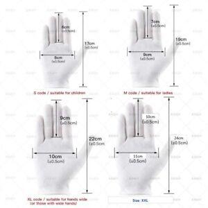 12 Pairs/Pack (XXL) White Soft Cotton Gloves - AU Stock Australia Free Delivery