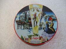 "1896 1996 ~100 Years Collin Street Bakery Deluxe 5"" Fruit Cake Tin Corsicana, TX"