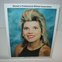 Deanna Kniola Women's Professional Billiard Signed Autograph Photo Pool Vintage