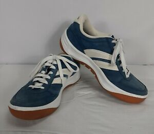 Skechers Sport Blue Suede with White Side Stripes Womens Size 7.5 SN 1899 FBL