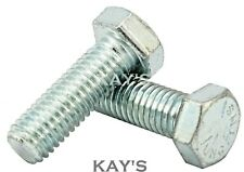 UNC HEXAGON SET SCREWS FULLY THREADED BOLTS ZINC PLATED, 1/4,5/16,3/8,7/16,1/2""