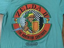 vtg Zelda 2 t shirt video game donkey kong brother 80 nintendo super mario bros