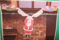 Vintage Christmas Décor Shingle Jingles Santa Claus & Elves Christmas Banner New