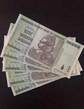 50 trillion zimbabwe banknotes 2008 AA Uncirculated. 5 Notes For $100