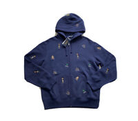 Polo Ralph Lauren College Bear Hoodie Sweatshirt Sweater Navy NWT Men's SZ XL