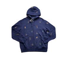 Polo Ralph Lauren College Bear Hoodie Sweatshirt Sweater Navy NWT Men's SZ M