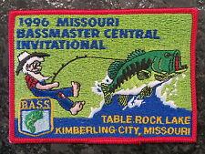 Rare Vintage Bassmaster Tournament Patch 1996 Missouri Central Invitational