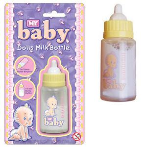 New Born Baby Dolls Milk Bottle Magic Drinking Doll Feeding Girls Toy 3 years