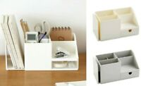 ABS Table Office Organizer Storage Holder Desktop Pencil Pens Sundries Badge Box