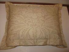 Ralph Lauren Fleur Du Roi rectangle deco pillow Pillow Tan Gold NEW