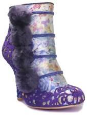 Irregular Choice Summer Party Women's Cut out Side Zip up High Heel BOOTS UK 7 (eu Size 40)