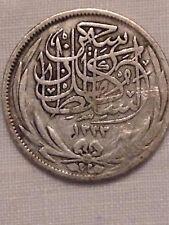 Egipto 5 Piastres 8330 moneda de plata 1917 CIRCULADO