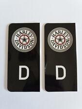 D-Sticker Autoaufkleber Kennzeichen Wappen Harley Davidson schwarz NEU