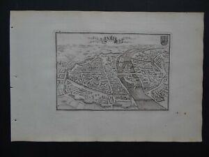 1702 De la Feuille Atlas map city view of  PARIS - FRANCE