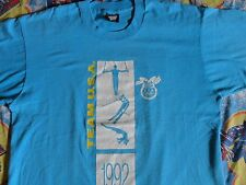 RARE True Vintage Turquoise Blue 50-50 1992 Olympics TEAM USA 2 SIDED T-Shirt XL