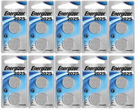 (Lot of 10) Energizer Lithium Coin Watch/Electronic Battery 2025, 2pk, CR2025