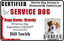 Service Dog ID Card for Vest Working Dog ID Badge Service Animal Custom made 7