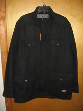 Ben Sherman L New Classic Black Peacoat Winter Jacket (Mod, punk, harrington)
