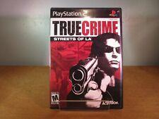 True Crime Streets of LA (Sony Playstation PS2) Complete Black Label VG