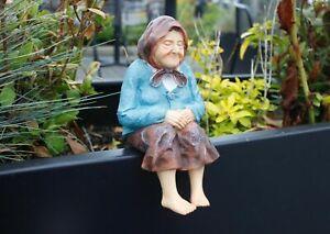 Resin Grandmother Statue Garden Patio Figurine Ornament Decorative Sculpture