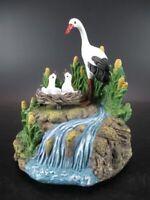 Spieluhr Störche mit Nest Storch Music Box Stork,14 cm Poly Modell,Neuteil