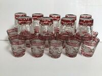ONE (1) VINTAGE G. REEVES 1oz SHOT GLASS RUBY RED MID CENTURY MODERN