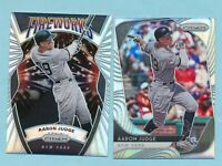 2020 Panini Prizm Fireworks Base Silver Refractor Parallel  AARON JUDGE Yankees