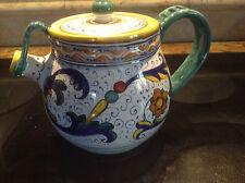Deruta Majolica Italian Pottery - RICCO TEAPOT