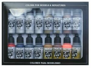 AV Vallejo Model Air Airbrush Paint Set - Metallic Effects (x16) VAL71181