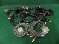 Microsoft Xbox 360 AV/HD Cables - Assorted - LOT OF 9 *