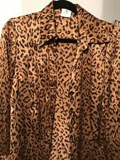 Vertigo Paris Animal Print Silk Blouse m
