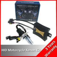 55W H4 Hi/Lo HID Bi-Xenon 6000K Motorcycle Headlight Conversion Kit Slim Ballast