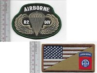 US Army 82nd Airborne Infantry Division Airborne ABN & Parachutist Wings Badge