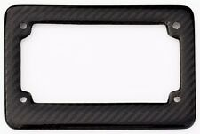 Real 100% Carbon Fiber Motorcycle License Plate Frame Orignial 3K With Free Caps