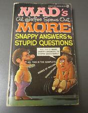 1972 Mad Magazine Al Jaffee Spews Out More 1st Signet Vg+ 4.5 Paperback