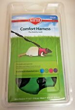 Kaytee Super Pet Comfort Harness w/ Stretchy Stroller Small Green Sealed NIB