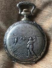 BIG Pocket Watch FRAINIER 1900 con relieve, en Argentan (210)